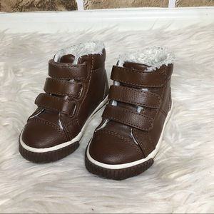 Toddler boy lined warm boots